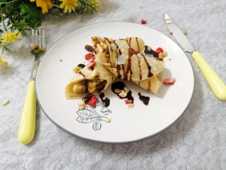 香蕉飞饼卷