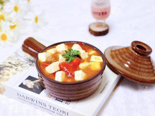 肉末番茄烩豆腐,成品一