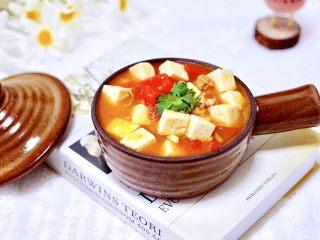 肉末番茄烩豆腐,好吃又做法简单。