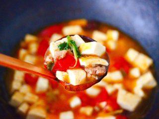 肉末番茄烩豆腐,酸甜可口又营养丰富的肉末番茄烩豆腐就做好了。