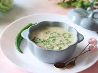 营养丰富的秋葵藜麦炖蛋,简单美味,有营养