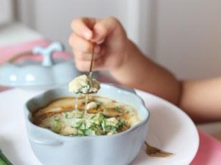 营养丰富的秋葵藜麦炖蛋,炖蛋里的粘液