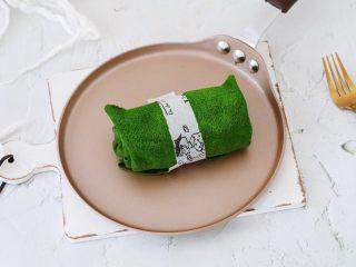 抹茶毛巾卷,成品图