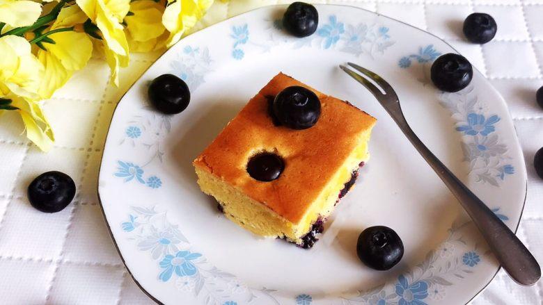 蓝莓无水海绵蛋糕