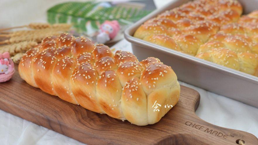 烫种芝麻辫子面包