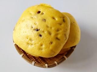 南瓜蜜豆馒头,取出实在太香了,而且非常喧软