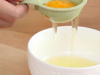 补钙鲜嫩虾糕,鸡蛋蛋清分离