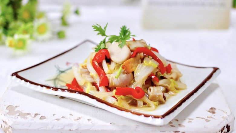 天鹅蛋白菜海鲜小炒