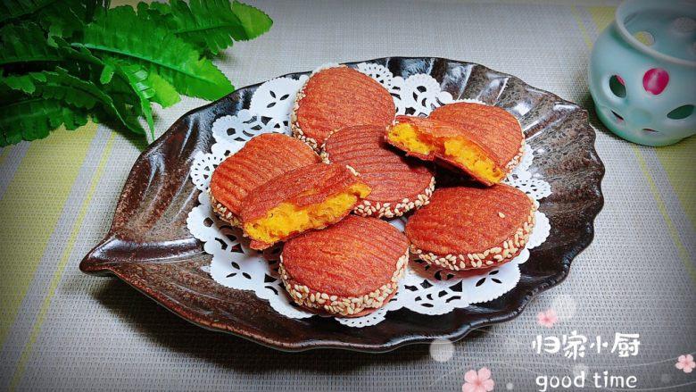 南瓜糯米薯片饼