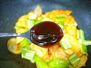 好吃到哭的茄汁土豆片,一勺蚝油。