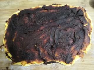 南瓜糯米夹心饼,再铺上一层豆沙馅