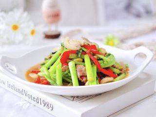 菜心红椒炒肉片