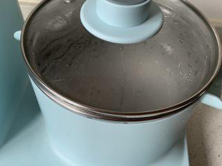 红豆椰奶西米露,焖几分钟至透明