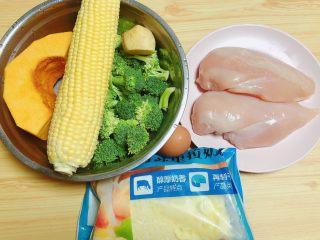 西兰花玉米鸡肉糕(芝士焗烤版),烤好的西兰花玉米鸡肉糕