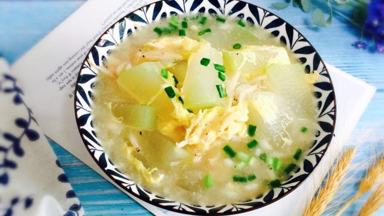 冬瓜蛋汤,清爽适口、消暑解腻!