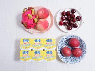 酸奶杯水果冻,准备好自己喜欢吃的水果,百香果一定要有
