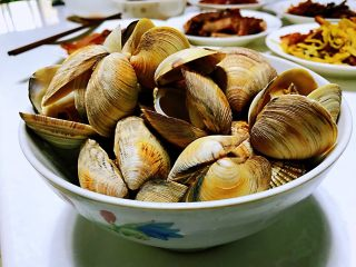 清煮文蛤,成品。