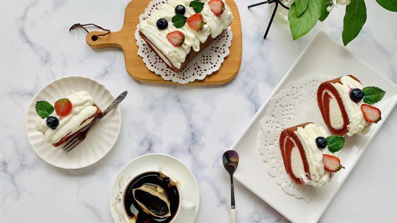 红丝绒蛋糕卷,自制蛋糕不仅健康卫生,美味也不减分。今天分享这款零失败的奶油蛋糕卷的做法,您看一遍准会,学会这个,家人想吃蛋糕的时候可以轻松做,相信您的家人一定会感到很幸福的哦~