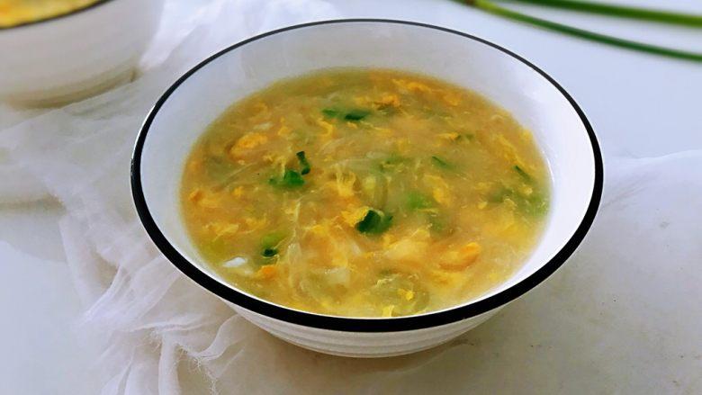 萝卜鸡蛋汤,成品。