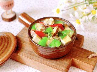丝瓜花蛤炖豆腐,成品一