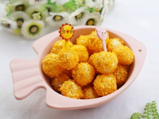 黄金米粉球