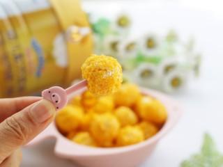 黄金米粉球,吃一个。