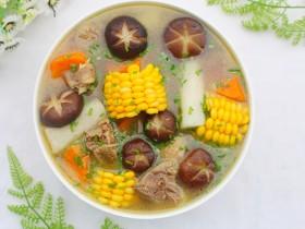 山药香菇玉米土鸡汤