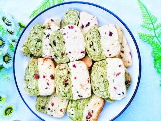 双色蔓越莓饼干,赶紧做起吧。