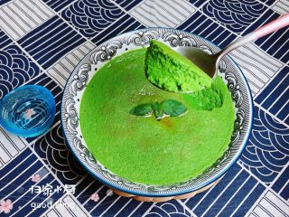 菠菜鸡蛋糕(豆浆版)