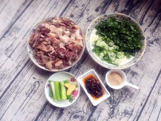 砂锅羊杂汤,准备好所有材料~