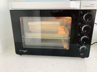 枣糕,放入烤箱下层, 上下火150度50分钟。