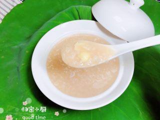 鲜荷叶百合莲子粥(清热解暑),一碗清热解暑的鲜荷叶百合莲子粥就做好了。