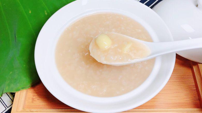 鲜荷叶百合莲子粥(清热解暑)