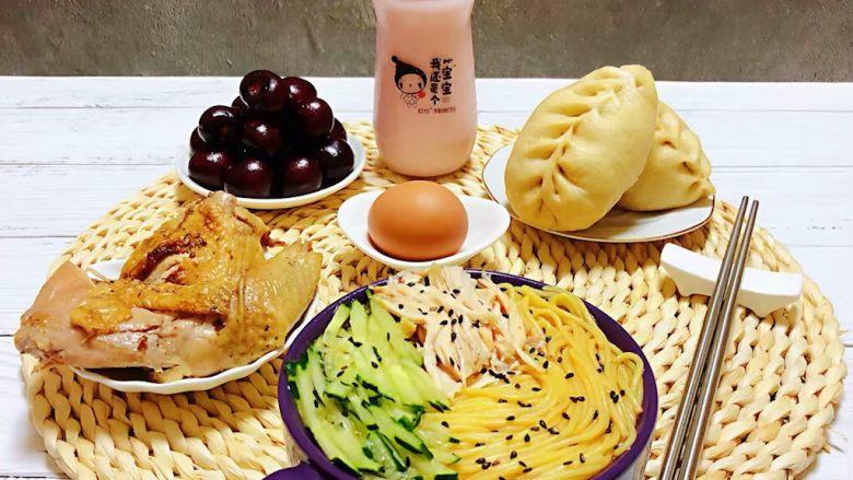 鸡丝青瓜凉面,普通的食材用心去做就会有意想不到的收获