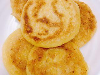 南瓜糯米夹心饼,两面金黄即可起锅
