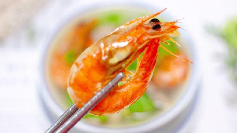 丝瓜海虾肉片汤,没次都会吃撑。