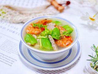 丝瓜海虾肉片汤,成品一