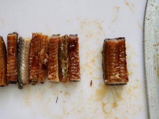 日式可乐饼,鳗鱼一半切条
