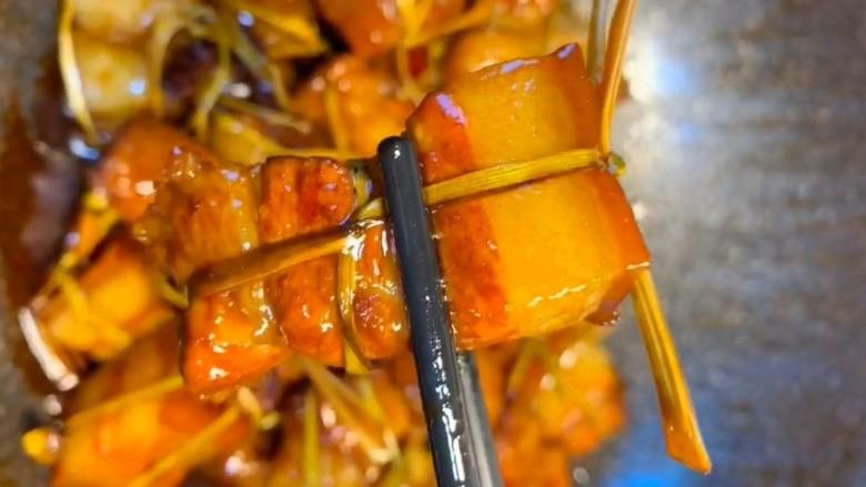 粽香五花肉,好吃的粽香五花肉制作完成