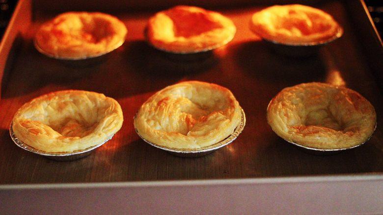 蓝莓黄桃酸奶蛋挞,香酥可口的蛋挞皮出炉喽。