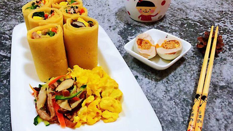 鸡蛋时蔬煎饼卷,早餐就是要方便快捷还要营养丰富噢