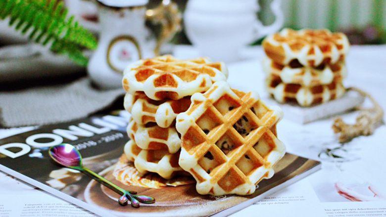 蜜豆酸奶华夫饼