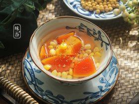 秋天常喝木瓜大豆汤,肌肤更有弹性,40岁也不显老