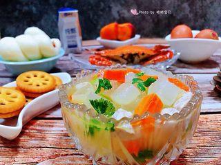 冬瓜胡萝卜肉丁汤,家人👪吃的开心吃的是我最大的满足