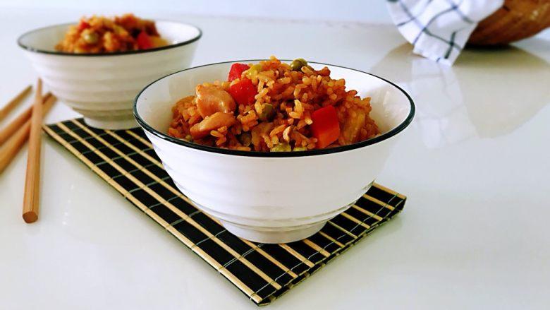 鸡腿焖米饭