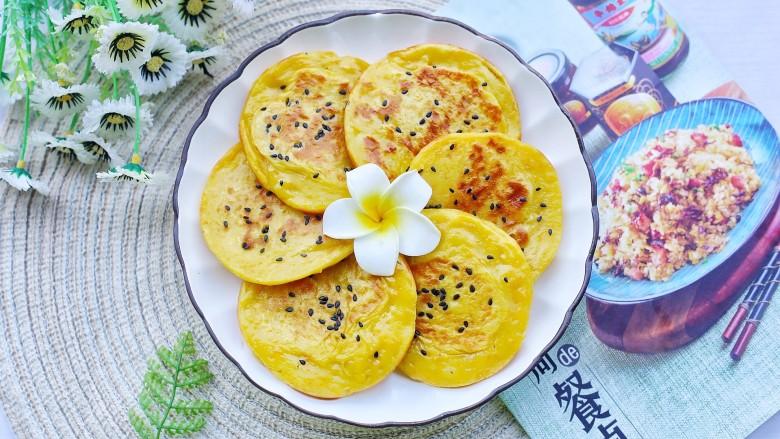 奶香南瓜饼,出锅。