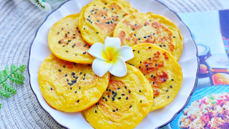 奶香南瓜饼,成品。