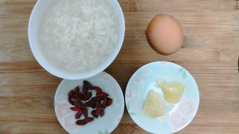 醪糟蛋花汤,准备好食材