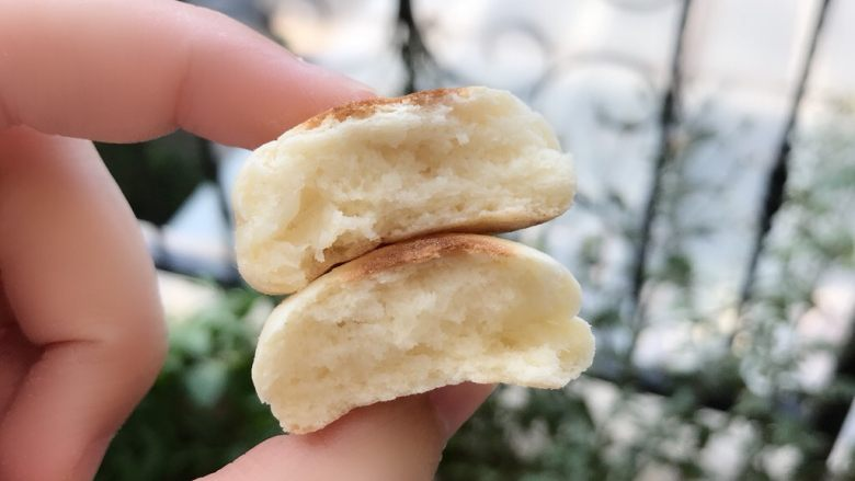 山药小饼,里面组织蓬松