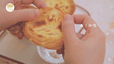 我的八月是黄桃味哒,你的呢?,黄桃蛋挞就做好啦,开吃吧~